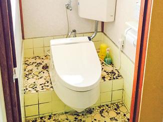 トイレリフォーム 簡易洋式トイレを交換しウォシュレット設置