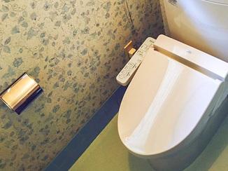 トイレリフォーム 介護保険を使い和式から洋式タイプになったトイレ