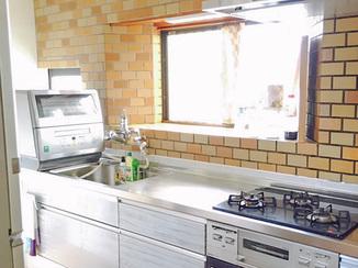 キッチンリフォーム 収納力もUPした全自動レンジフード付きキッチン