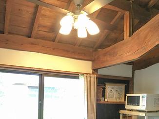 内装リフォーム 雨漏りを修繕しながら古民家風の内装へ