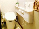 トイレリフォーム清掃性や収納力だけでなくデザイン性も高いエレガントなトイレ